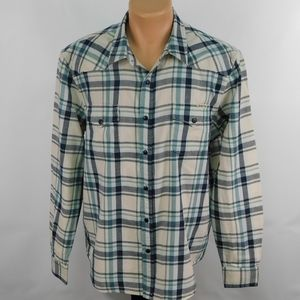 Lucky Brand Western cut flannel shirt.  XL